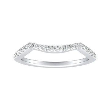 Auriya 1/6ctw Curved Diamond Wedding Band 18k Gold