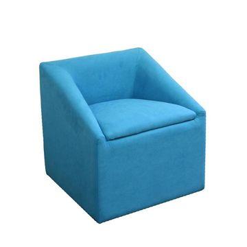 ORE International Modern Sky Blue Accent Chair Polyester