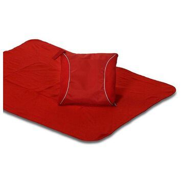 Fleece Blanket Cushion, Red