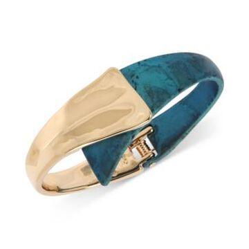 Robert Lee Morris Soho Gold-Tone & Patina Sculptural Bypass Bracelet
