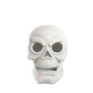 Alpine Motion Activated Skull with Red LEDs, 16 Inch Tall