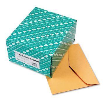 Quality Park Open Side Booklet Envelope 12 x 10 Brown Kraft 100/Box 54300