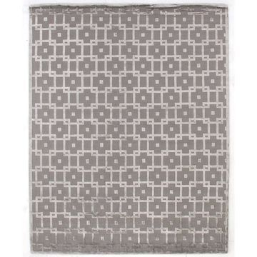 Exquisite Rugs Metro Velvet Silver New Zealand Wool and Silk Rug - 4' x 6'