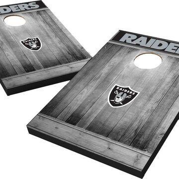 Wild Sports Las Vegas Raiders Grey Wood Tailgate Toss