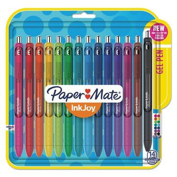 Paper Mate InkJoy Gel Retractable Pen 0.7mm Assorted Ink 14/Pack 1951636