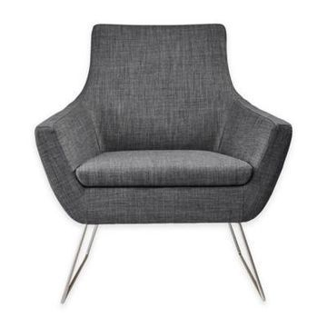 Adesso Kendrick Chair in Charcoal Grey