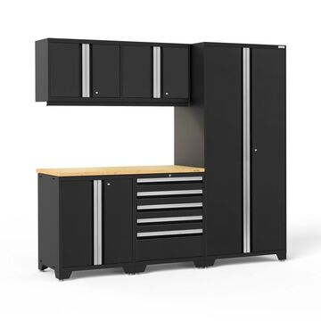 NewAge Products Pro Series 92-in W x 84.75-in H Black Steel Garage Storage System | 64052