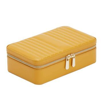Wolf - Maria Zip Travel Jewelry Case - Mustard - Medium