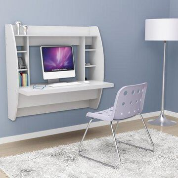 Prepac Tall Wall Hanging Desk, Multiple Colors