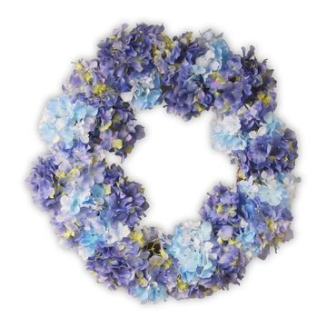 National Tree Company Artificial Blue Hydrangea Wreath