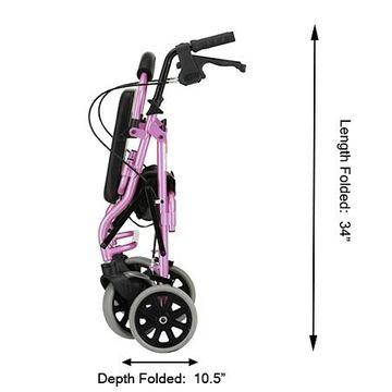 Nova Zoom Rolling Walker 18 inch Pink