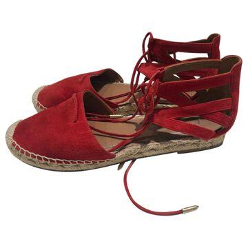 Aquazzura Red Suede Sandals