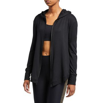 Open-Back High Low Hoodie