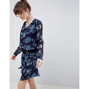 Ichi Floral Waisted Dress