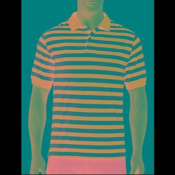 Big & Tall Harbor Bay Stripe Polo Shirt - Red Multi