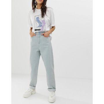 ASOS WHITE high waisted carrot leg jeans