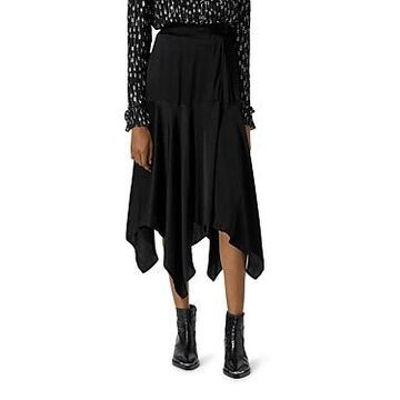 The Kooples Wrap Midi Skirt