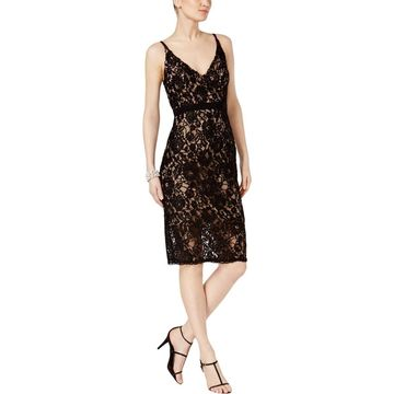 Xscape Womens Party Dress Lace Metallic