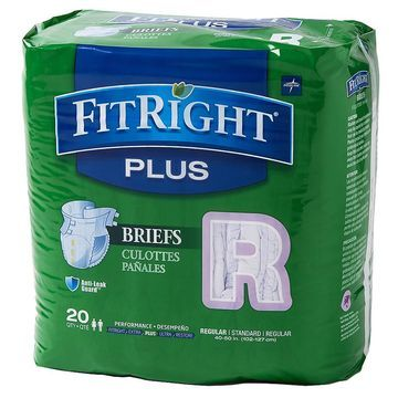 Medline FitRight Plus Briefs Regular