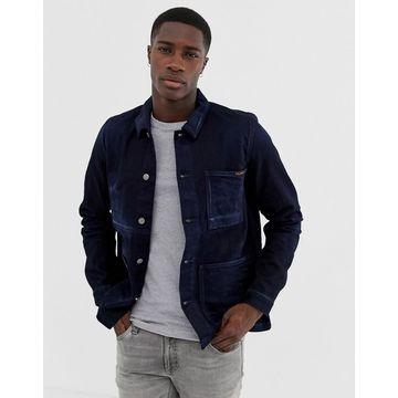 Nudie Jeans Co Paul overshirt jacket in indigo-Navy