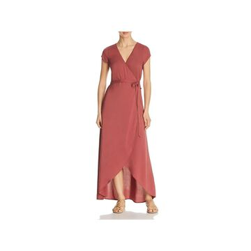 L Space Womens Goa Wrap Dress Solid Maxi - Pink