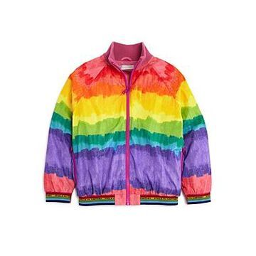 Stella McCartney Girls' Ombre Rainbow Bomber Jacket - Big Kid