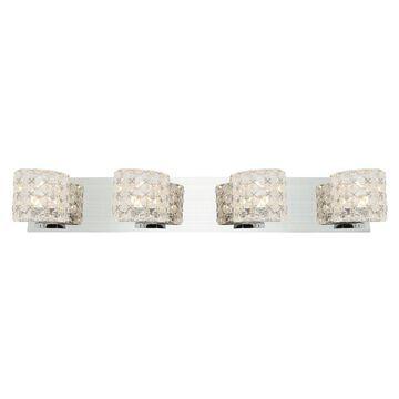 Access Lighting Prizm 4-Light Chrome Transitional Vanity Light | 23922-CH/CCL