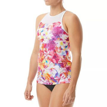 Women's TYR Floral UPF 50 Body Sculptor Tankini Top, Size: Small, Med Yellow