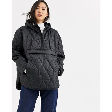 Weekday Mira quilted anorak in black