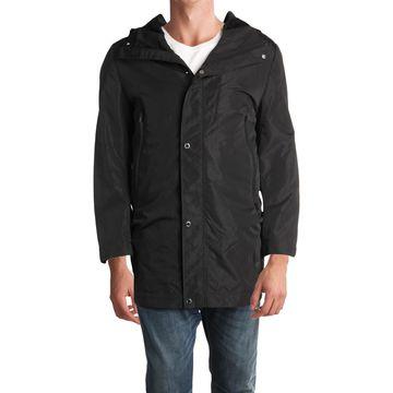 Karl Lagerfeld Paris Mens Fall Hooded Windbreaker Jacket