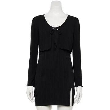 Juniors' Speechless Bodycon Dress & Sweater Set, Girl's, Size: Large, Oxford