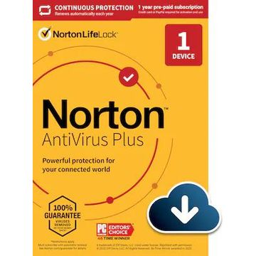 Norton AntiVirus Plus for 1 Device, Windows/Mac, Download (21390616) | Quill