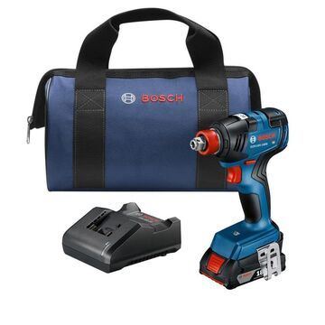 Bosch Freak 18-Volt 1/4-in; 1/2-in Variable Speed Brushless Cordless Impact Driver (1-Battery Included)