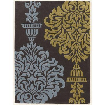 Linon Trio 8 x 10 Gray/blue Indoor Medallion Area Rug Polyester