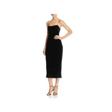 T by Alexander Wang Womens Party Dress Velvet Burnout - 4