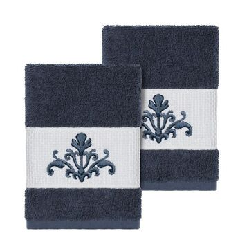 Linum Home Textiles Scarlet Embellished Washcloth Set