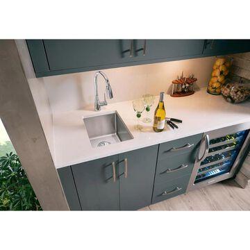 Elkay Crosstown Undermount 13.5-in x 18.5-in Polished Satin Single Bowl Kitchen Sink Stainless Steel   ECTRU12179T