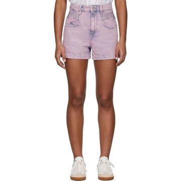 Isabel Marant Etoile Pink Denim Hiana Shorts