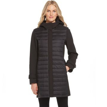 Women's Gallery Hooded Mixed-Media Midweight Jacket