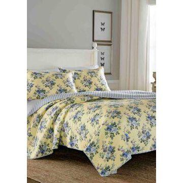 Laura Ashley Linley Yellow Quilt Set - -