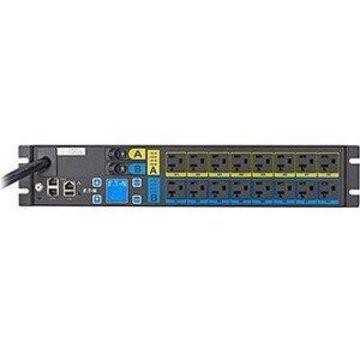 Eaton ePDU Managed 16-Outlet PDU - Managed - NEMA L5-30P - 16 x NEMA 5-20R - 120 V AC - 2880 W - Network (RJ-45) - 2U - Horizontal - Rack Mount