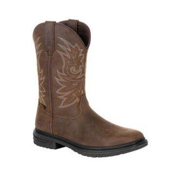 Rocky Men's WorkSmart Composite Toe Waterproof Western Boots, Brown, RKW0277