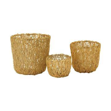 Dimond Home Wild Woven Wire Bowl
