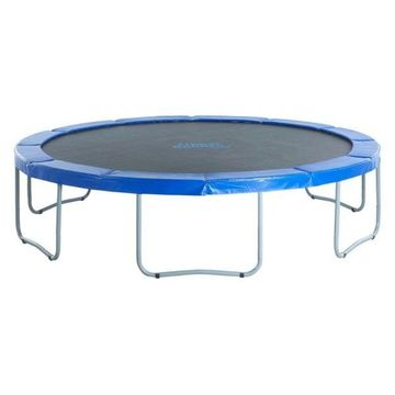 12' Round Trampoline With Blue Safety Pad, 144