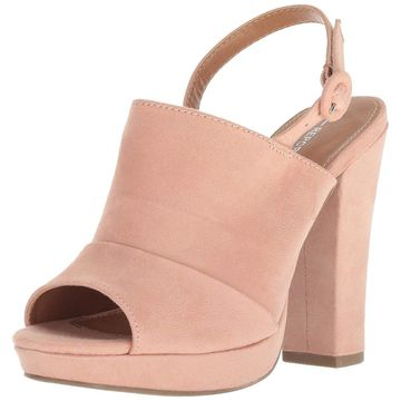 Report Womens Lacey Peep Toe Casual Slingback Sandals