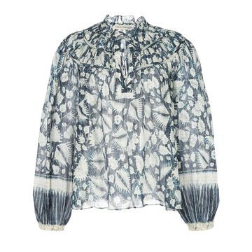 Yulia foliage blouse