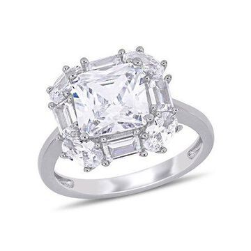 Miabella 6 Carat T.G.W. Cubic Zirconia Sterling Silver Engagement Ring