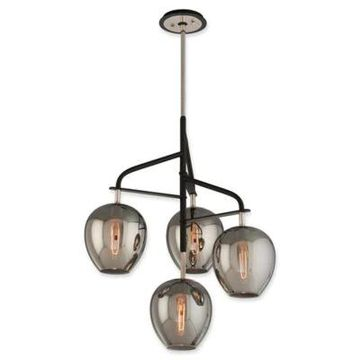 Troy Lighting Odyssey 4-Light Small Ceiling Pendant in Carbide Black