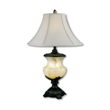 ORE International 32-in Black Table Lamp with Linen Shade   8193
