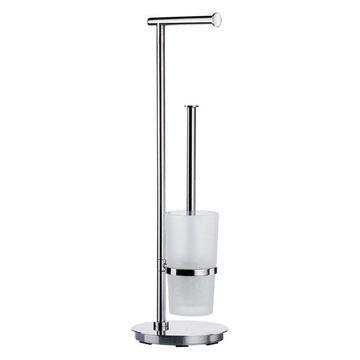 Outline Lite Toilet Roll Holder/Toilet Brush Stainless Steel Polished